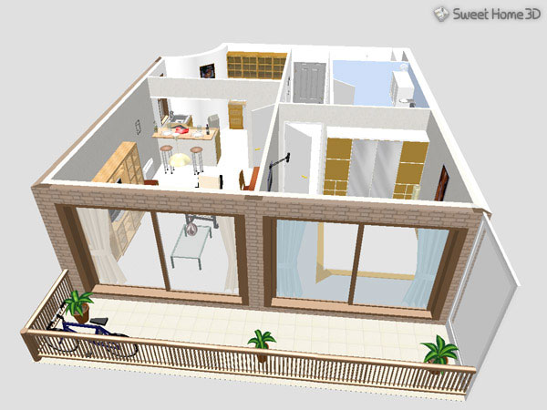 Sweet home 3d 3 7 2d 3d for Free online room planner no download
